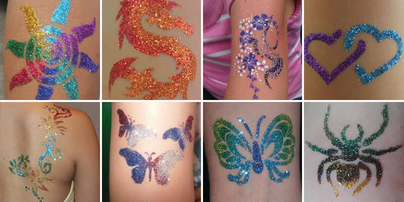 glitter tattoo katies fab faces